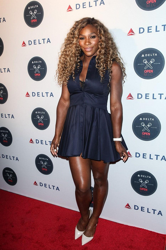 Serena Williams na párty v New Yorku
