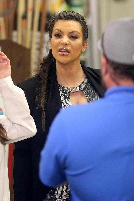 Kardashian nebyla nejlépe naladěná.