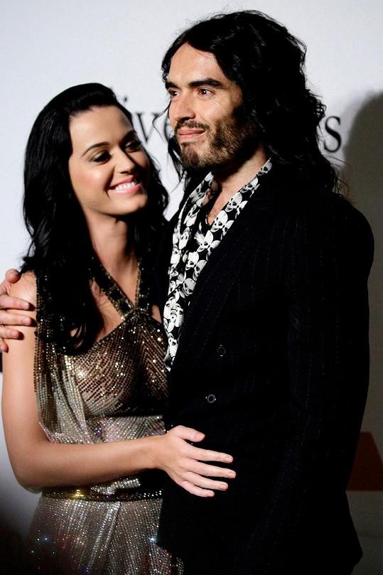Katy Perry s exmanželem Russellem Brandem