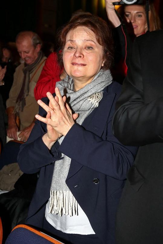 Libuška Šafránková vypadala na premiéře dokumentárního dramatu Hoteliér velmi unaveně.