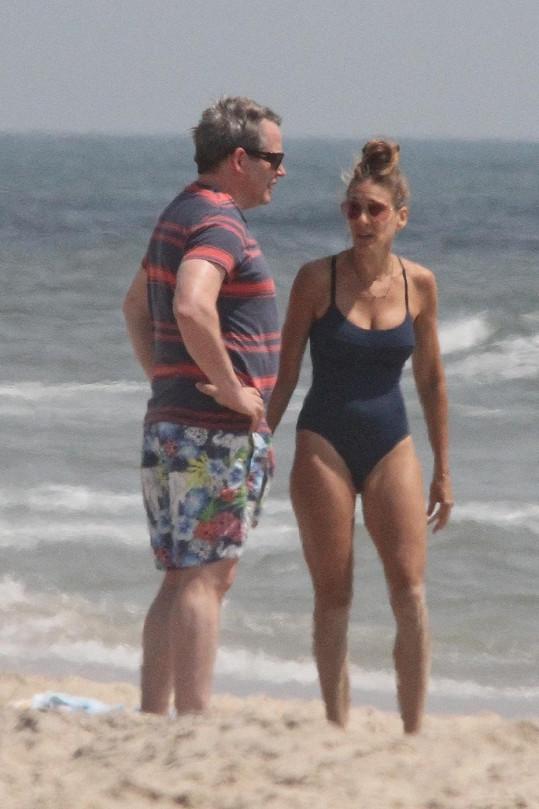 Sarah Jessica s manželem Matthewem Broderickem na Long Islandu