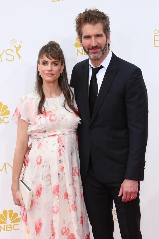 Amanda Peet s manželem na předávání cen Emmy