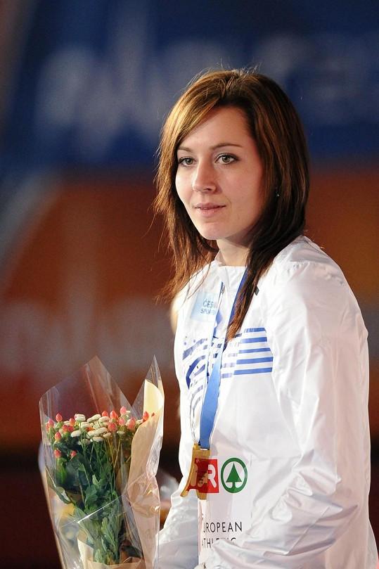 Denisa Ščerbová vyhrála na halovém evropském šampionátu v Paříži v běhu na 400 metrů.