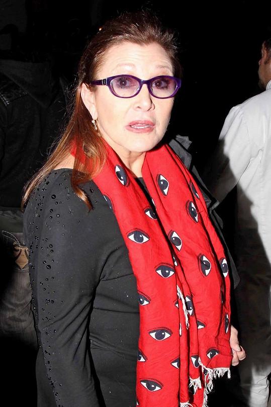 Takhle vypadá Carrie Fisher v 57 letech, kdy se připravuje na natáčení sedmé epizody Star Wars.