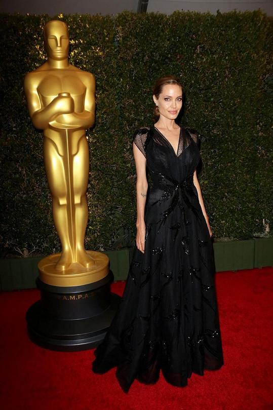 Angelina Jolie převzala cenu za svou humanitární činnost.