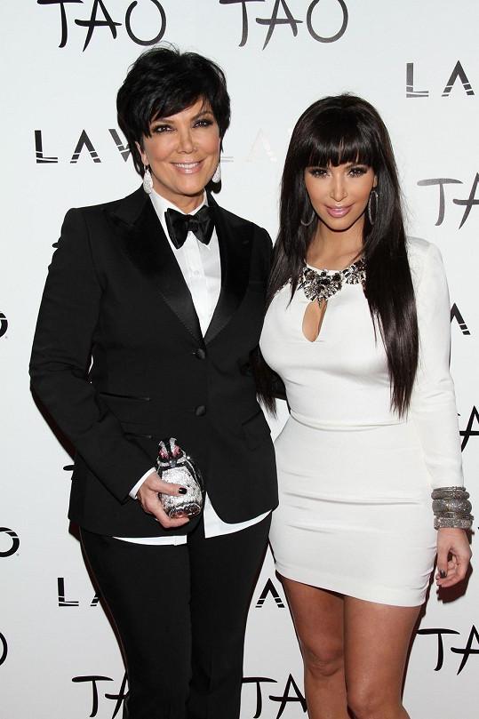 Kris Jenner se svou nejslavnější dcerou Kim Kardashian
