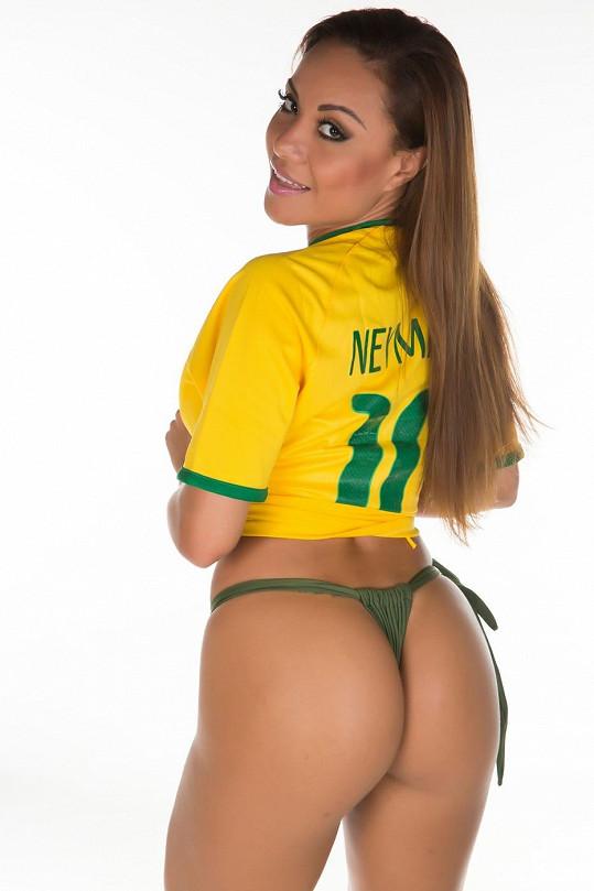 Tahle kráska zbožňuje hvězdného Neymara.