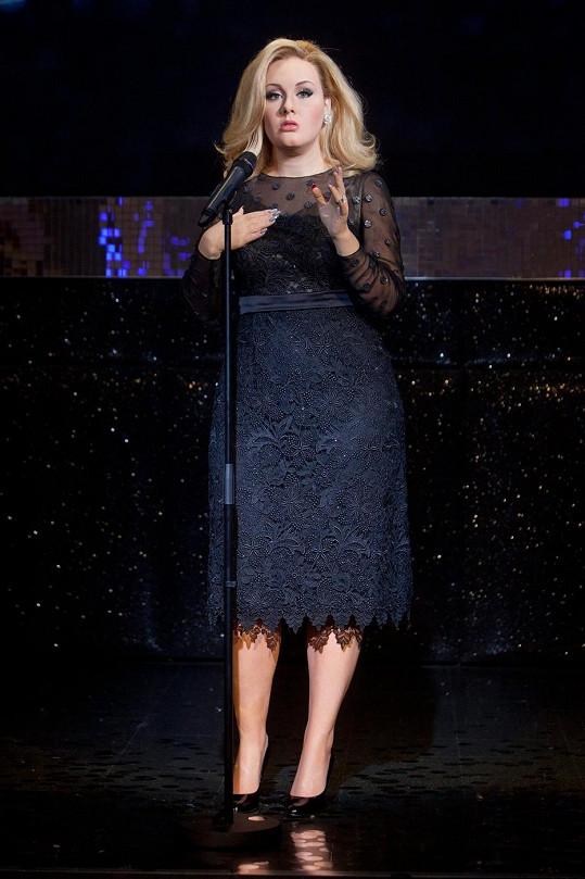 Adele z vosku vypadá senzačně.