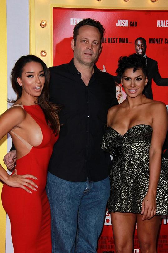 Tragické sestry se zvěčnily s hercem Vincem Vaughem.