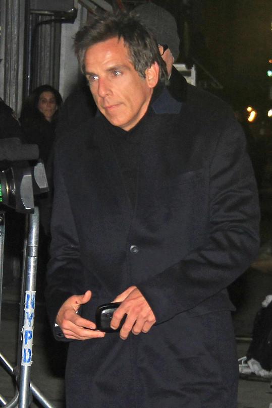 Ben Stiller vypadal sklesle.