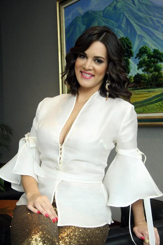 Venezuelská královna krásy byla velmi půvabná.