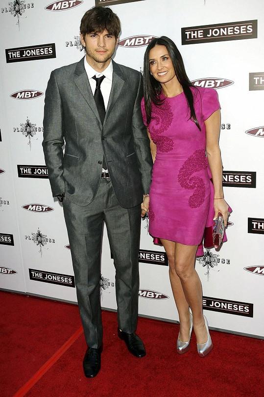 Ashton Kutcher s exmanželkou Demi Moore