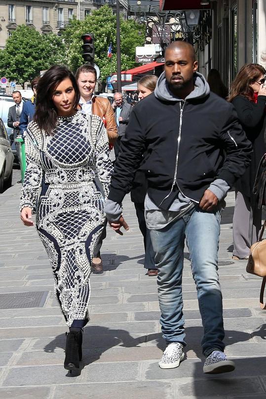 Kim se snoubencem Kanyem Westem