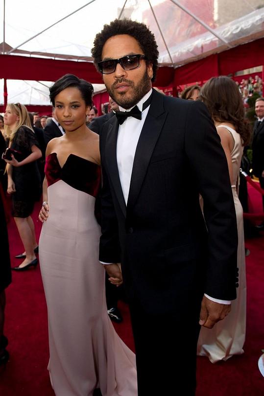 Pyšný otec Lenny s půvabnou dcerou.