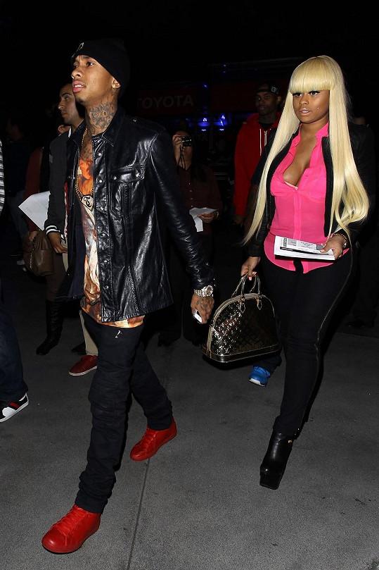 Rapper Tyga se svou partnerkou Blac Chynou.