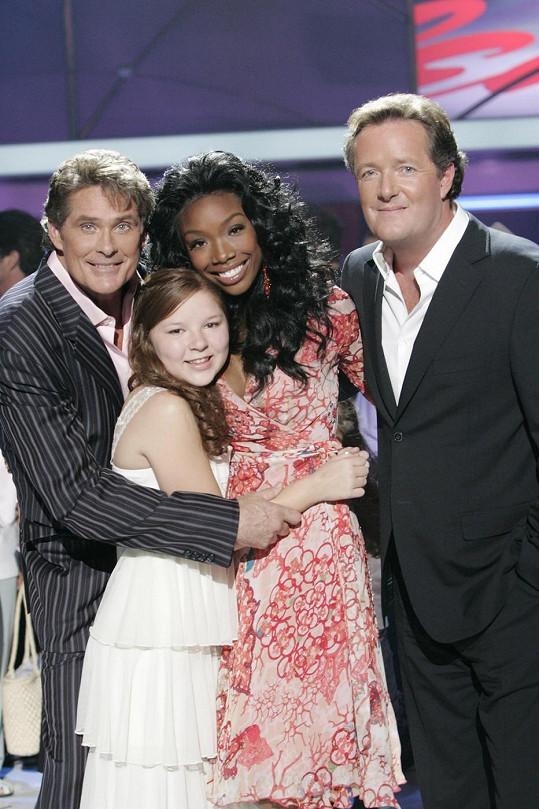 Bianca v roce 2006 s porotci soutěže Davidem Hasselhoffem, Brandy Norwood a Piersem Morganem.