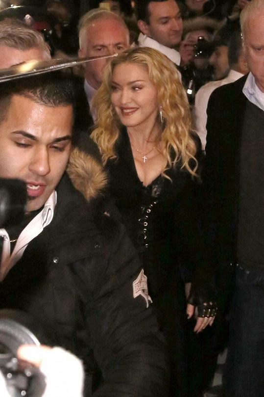 Madonna v Kanadě házela očka na novináře.