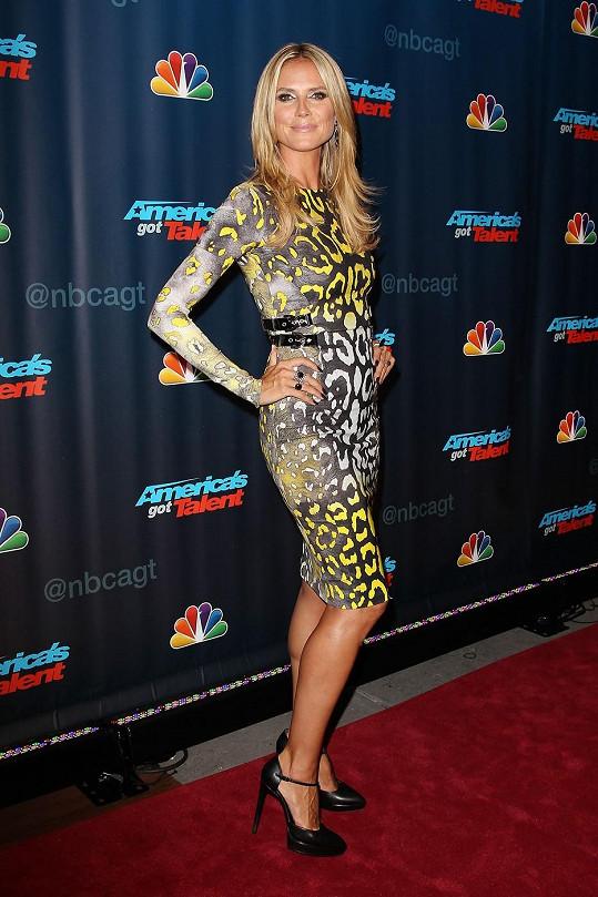 Bezchybná Heidi Klum na natáčení America's got Talent