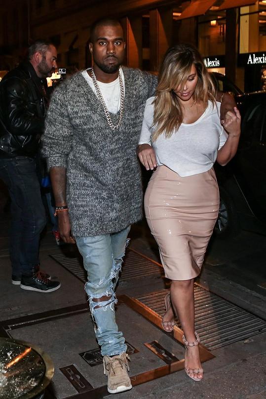 Kim s Kanyem ve francouzské metropoli