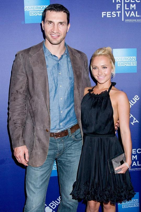Vladimir Kličko se snoubenkou Hayden Panettiere.