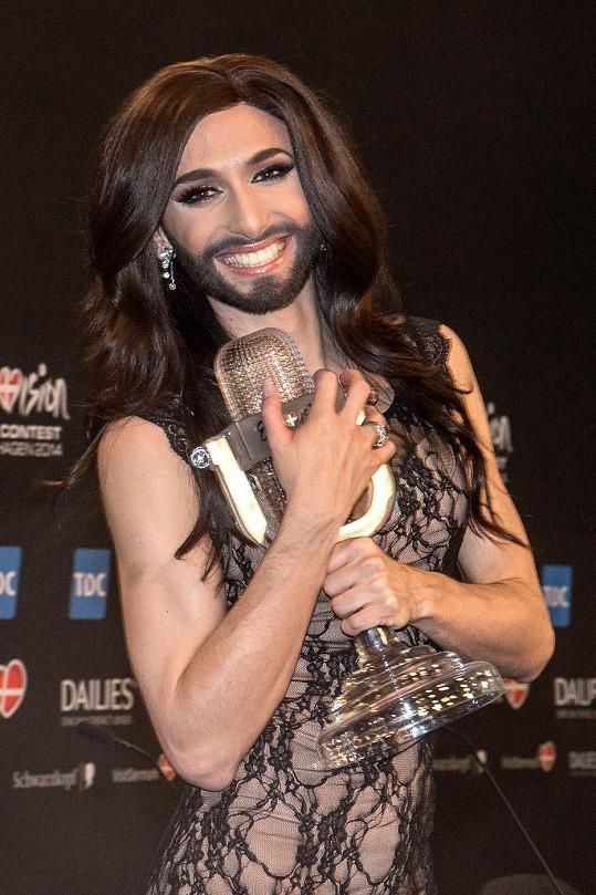 Čerstvý vítěz Eurovize Thomas Neuwirth alias Conchita Wurst.