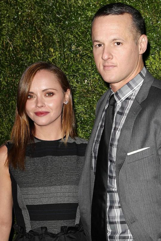 Christina Ricci s manželem James Heerdegenem