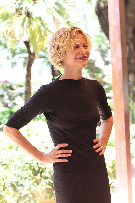 Meg Ryan na filmovém festivalu na Sicílii.