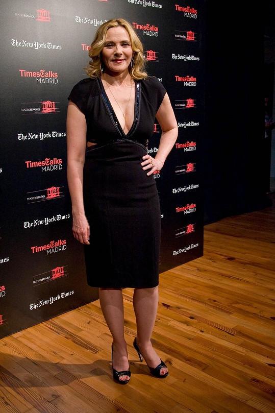 Herečka navštívila ve Španělsku konferenci pořádanou novináři.
