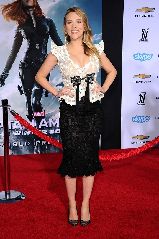 Scarlett Johansson na premiéře v Hollywoodu