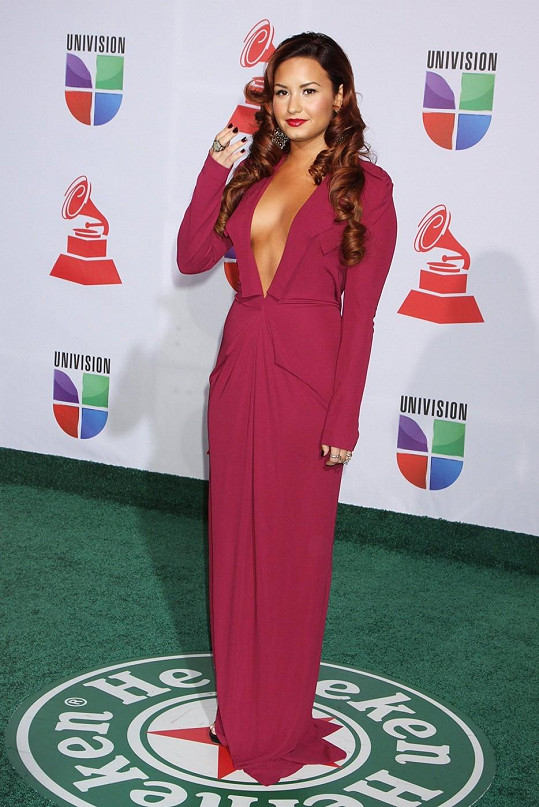 Lovato na fotografii z listopadu 2011