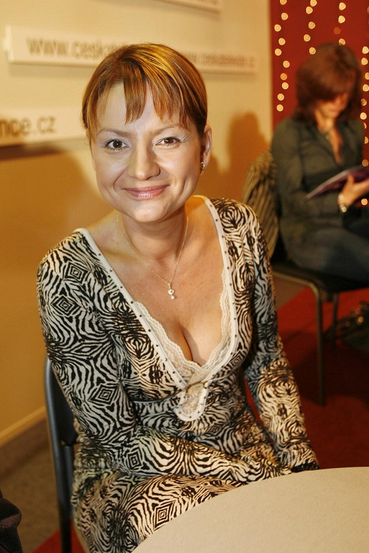 Jolana Voldánová v roce 2006 na tiskovce ke StarDance.