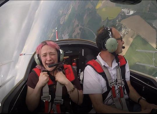 Tereza Mašková si vyzkoušela adrenalinovou aktivitu.