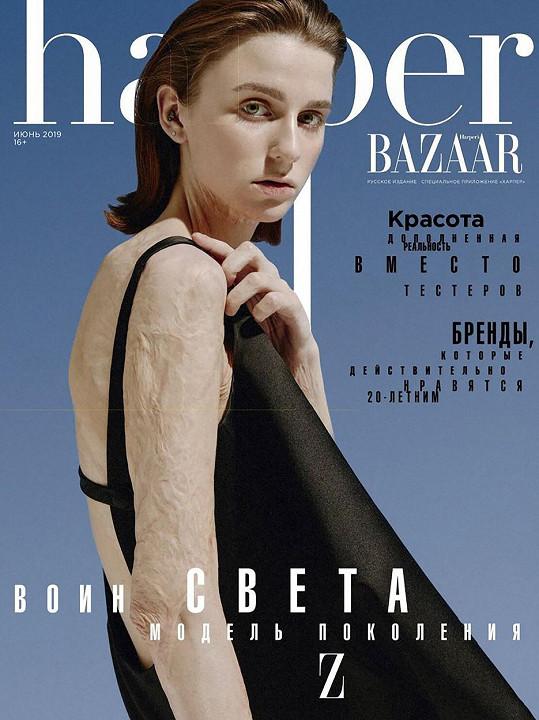 Světlana na titulce magazínu Harper´s Bazaar