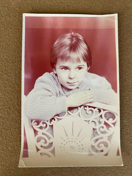 V dětství Kateryna nosila vlasy na kluka.