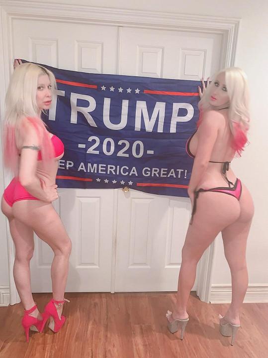 Frenchy Morgan (vlevo) a Tiffany Madison už zahájily prezidentskou kampaň.