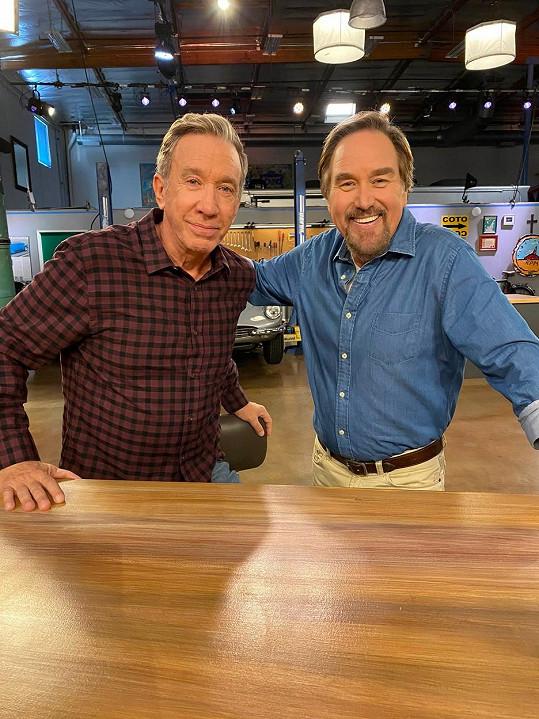 Allen a Karn na aktuálním snímku. Slavní televizní kutilové spolu chystají nový projekt.