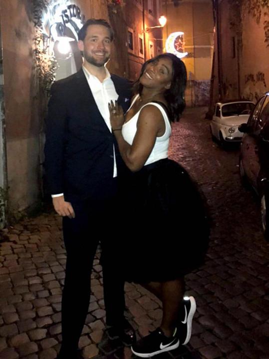 Serena Williams se snoubencem Alexisem Ohanianem