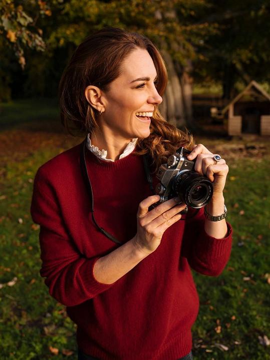 Vévodkyně Kate je zdatnou fotografkou.