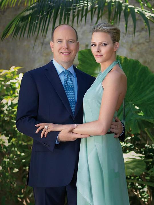 S manželem, monackým knížetem Albertem II.