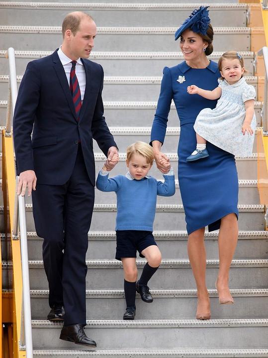 Princ William s vévodkyní Kate, princem Georgem a princeznou Charlotte