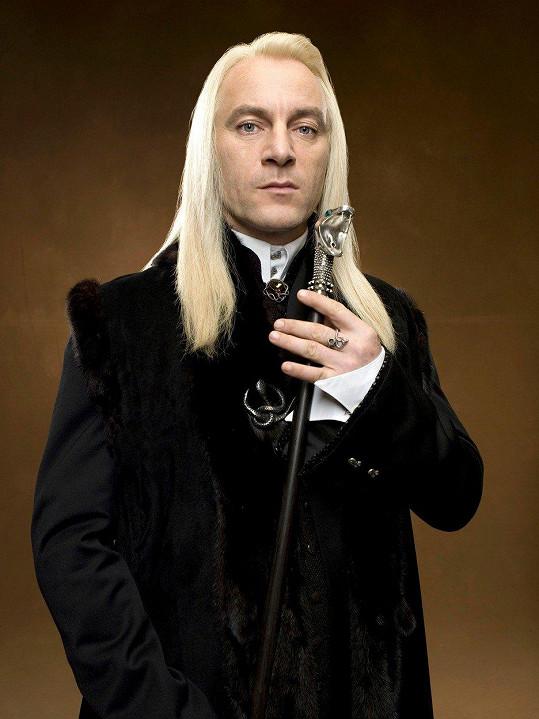 Jako Lucius Malfoy v Harrym Potterovi