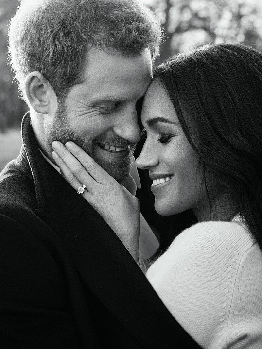 Harry se svou snoubenkou Meghan Markle