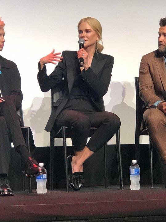 Ne všechny otázky během diskuze k filmu Destroyer herečka zodpověděla.