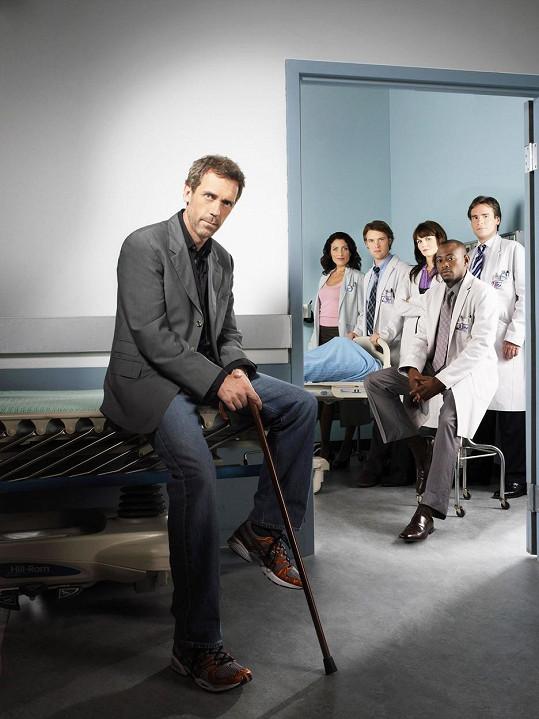 Dr. House - v popředí Hugh Laurie