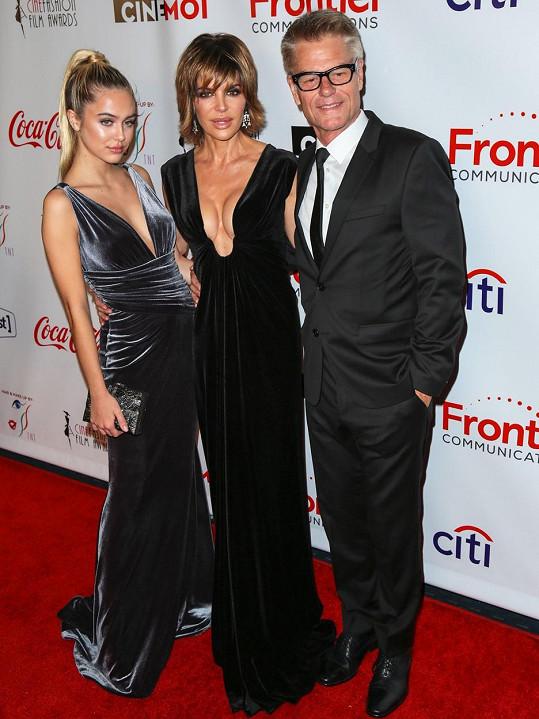 Lisa s manželem Harrym Hamlinem a jejich starší dcerou