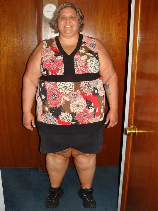 Wendy Epperly-Miller v době, kdy vážila téměř dva metráky.
