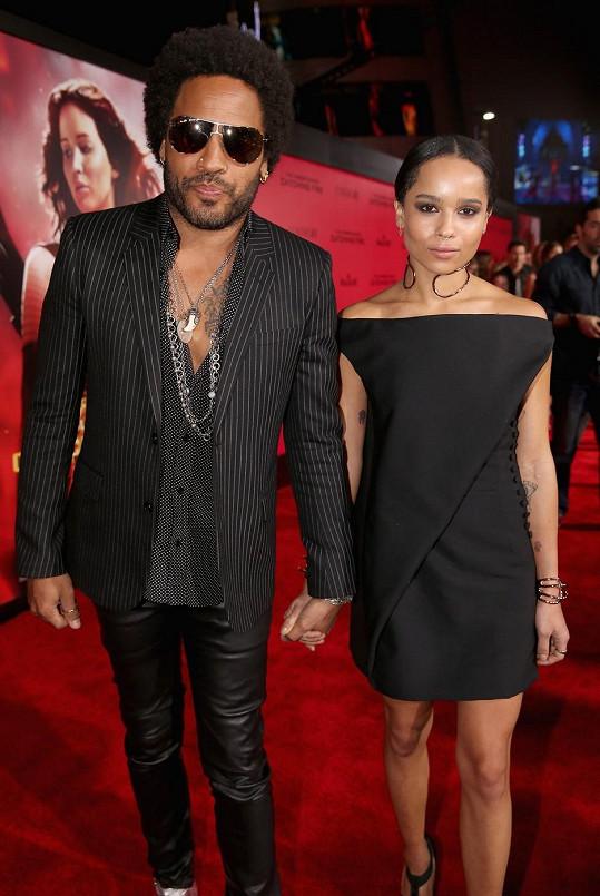 Lenny Kravitz s dcerou Zoë