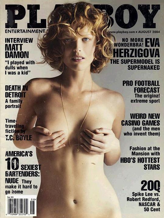 Eva Herzigová na obálce Playboye