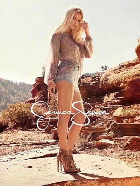 Jessica Simpson na aktuální fotce