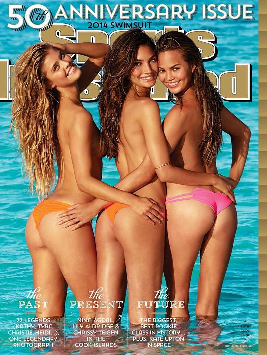 Chrissy (vpravo) na obálce výročního Sports Illustrated